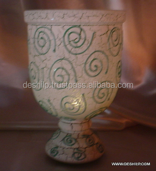 FLOWER VASE,FLOWER POT,SLR VASE, MOSAIC VASE,DECORATIVE FLOWER POT,GLASS PAINTED VASE,SILVER FLOWER VASE