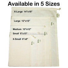 natural plain custom printed cotton muslin canvas drawstring bag