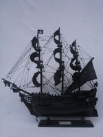 "Black Pearl Pirate Ship 26"" Decorative Model Ships Handicraft ( Historic Ships Model )"