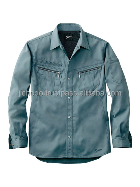 Winter working shirt with long sleeves. Made by Japan