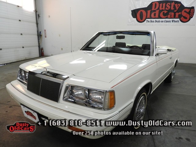 1986 Chrysler Lebaron Mark Cross Runs Drives Interior Body All Excel Summer Cruiser - See more at: www.dustyoldcars.com