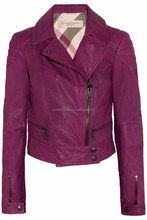 Any color custom made leather jacket for women and girls