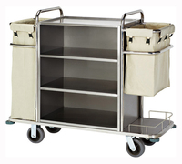 Hotel Equipment stainless steel housekeeping cart , service cart , Rack trolley