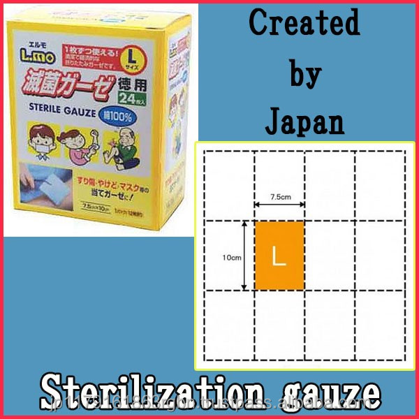 High quality and Cost-effective sterile gauze swabs with 24 pieces pack created by Japan