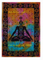 Indian Tapestries Wall Hanging Wholesale Hippie Buddha Meditation Wall Art Yoga mat India Seven Chakra Bohemian Cotton Bedspread
