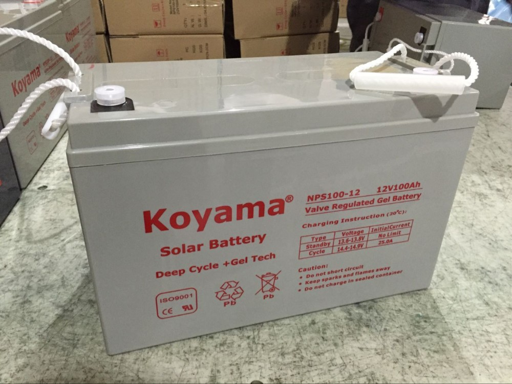 Factory customized Deep Cycle Maintenance Free 12V 100AH Solar Battery