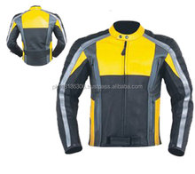 MADE OF COW LEATHER MOTORBIKE JACKET / MEN BIKER LEATHER SHINY