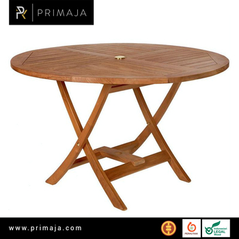 Round Easy Folding Table - Teak Furniture Manufacturer