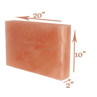 20x10x2 inch Himalayan Salt Block Plate Slab for BBQ Cooking Searing Serving