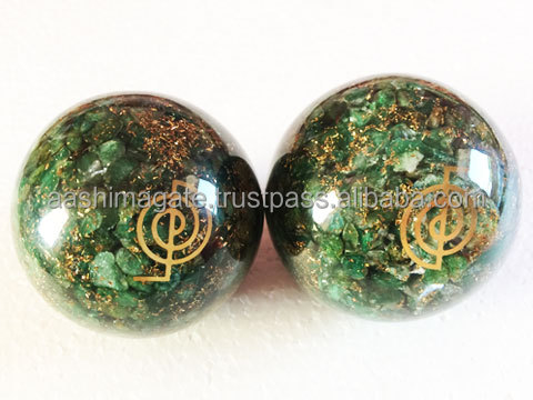 Wholesale Green Quartz Orgone Balls : Wholesale Orgonite For Sale