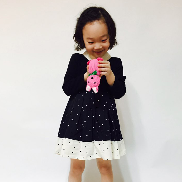 High Quality Girl's Polka Dots Dress from Seoul, Korea