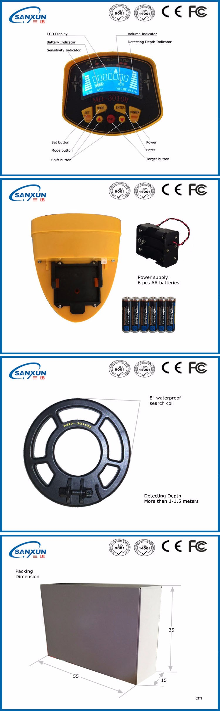 Long distance metal detector detector de metales detector - Detector de cables ...