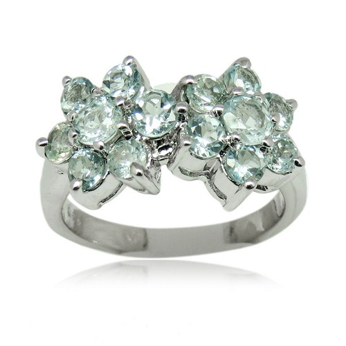 Unique Style 925 Sterling Silver Prong Setting Blue Topaz Gemstone Ring,Wholesale Fashion Handmade Alibaba Cheap Jewelry