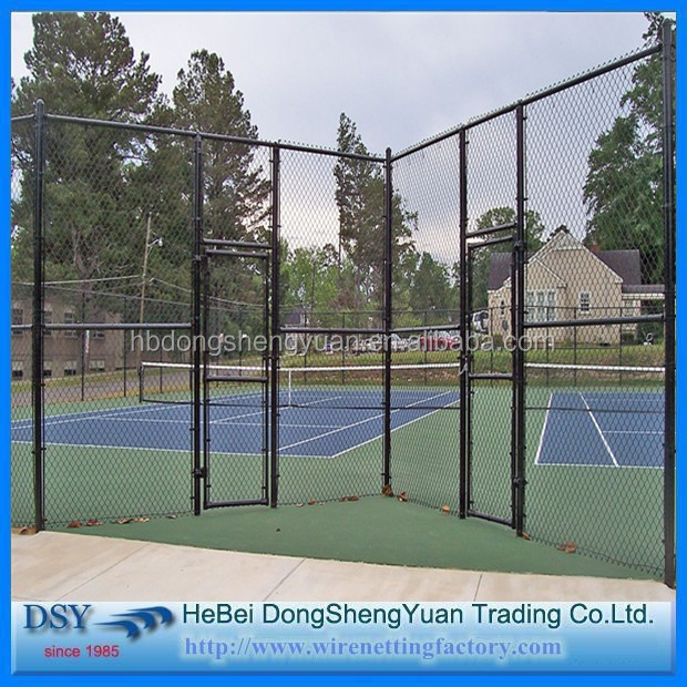 PVC Coated Frame Finishing and Steel Metal Type Chain link fencing
