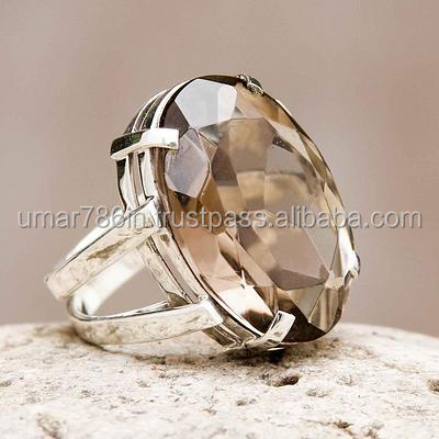 falak gems Artisan Crafted Jewelry Smoky Quartz Ring Joy of Life rings