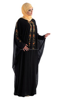 Beautiful Hand Embroidered Black Kaftan for Celebrations pakistani dress for women