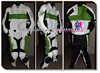 CFLMSM-1129 hANSPREE white and green biker leather racing suit