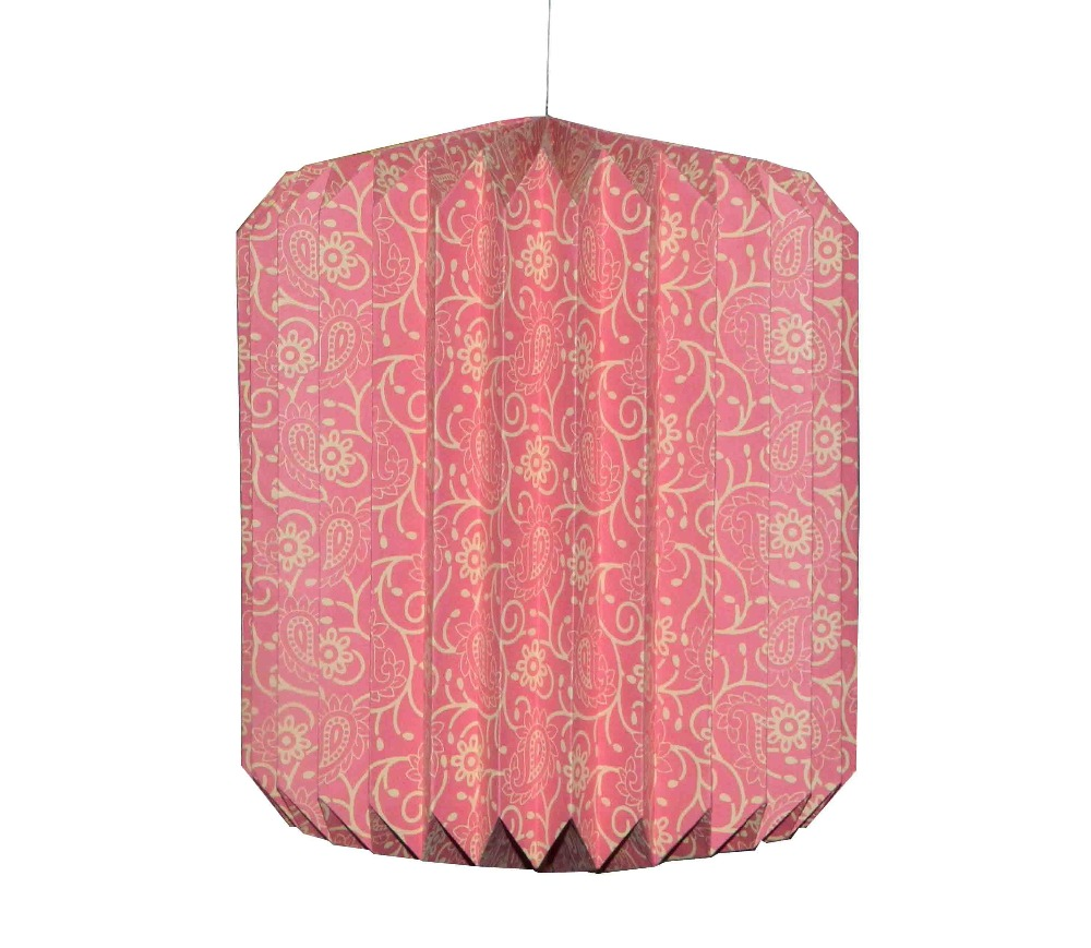 FOLDABLE STYLE LIGHTING WITH BOX PACKING DECORATIVE HANDMADE PAPER HANGING LAMP