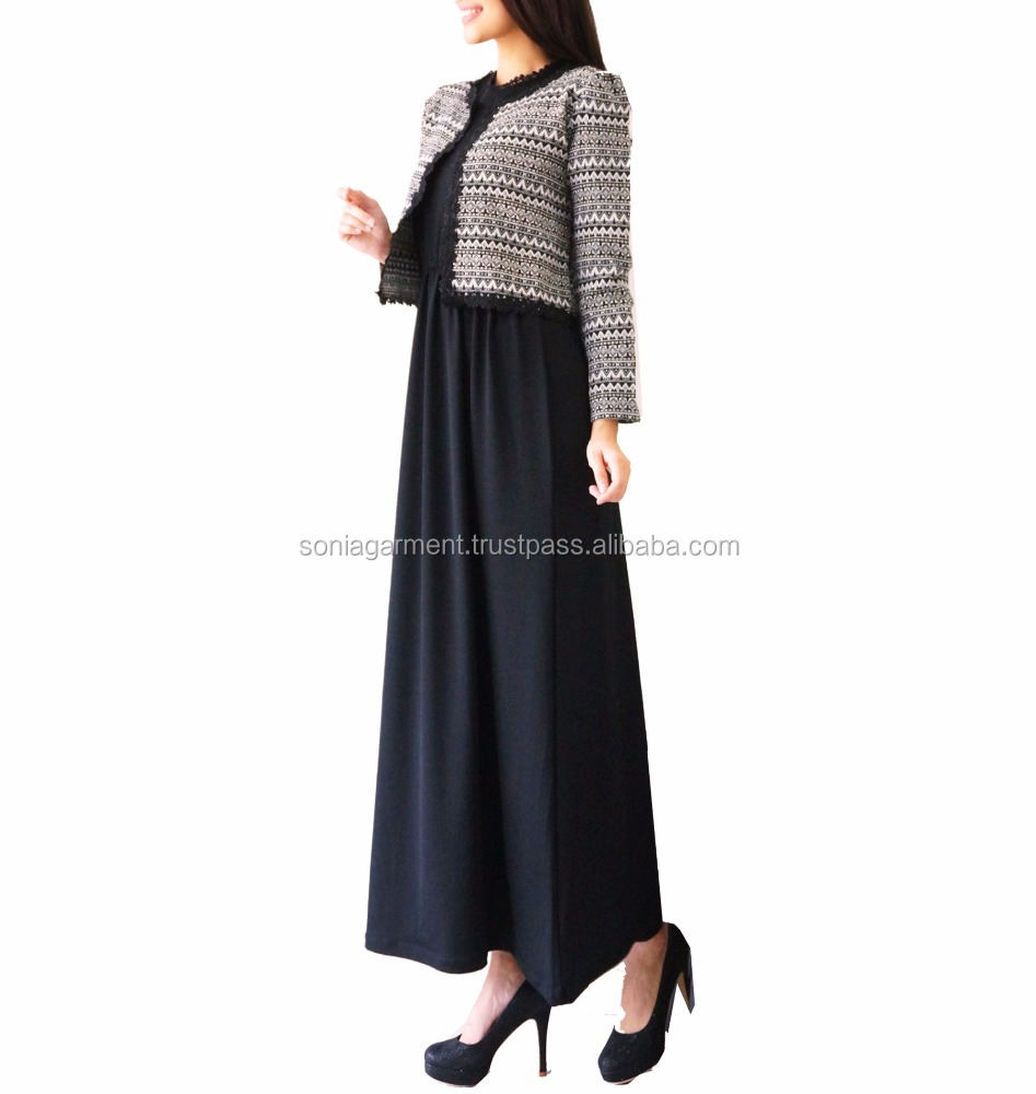 Latest design dress gamis abaya long maxi dress for women ladies hot desginer