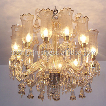 ANTIQUE GLASS CHANDELIER,VINTAGE GLASS CHANDELIER,GOLD DECORATIVE CHANDELIERS