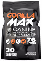 Gorilla Max Natural Pet Supplements - Muscle Building Supplement for Dogs