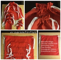 Red Double Drawstring Bag (100% Cotton) High Quality