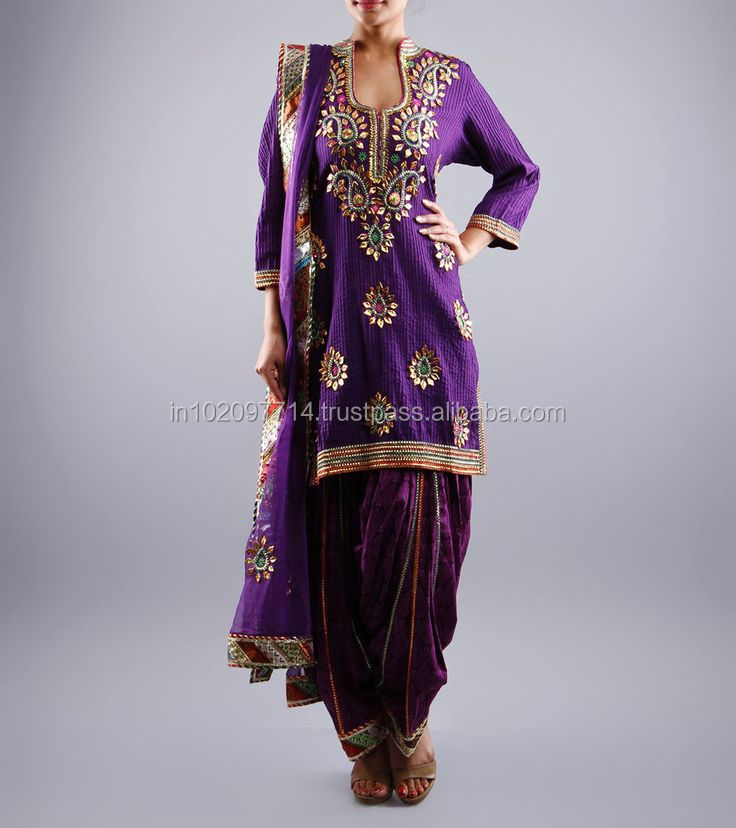 Heavy embroidered punjabi suits