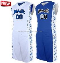 2016 new design european youth reversible sublimation cheap custom basketball uniform