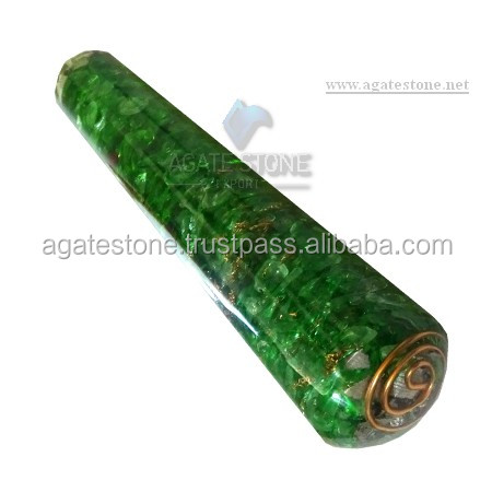 Green Onyx Orgone Energy Smooth Massage Wands : Wholesale Orgone Healing Orgonite Massager