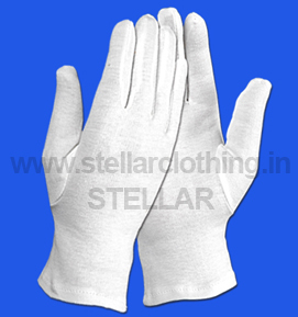 100% COTTON KNITTED HAND GLOVES