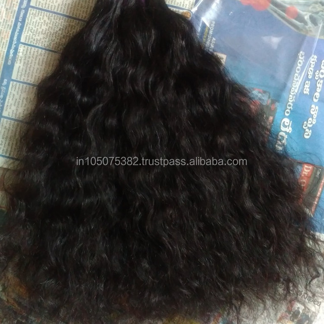 Unprocessed Indian Raw CURLY/WAVY weft hair extensions for FACTORY prices