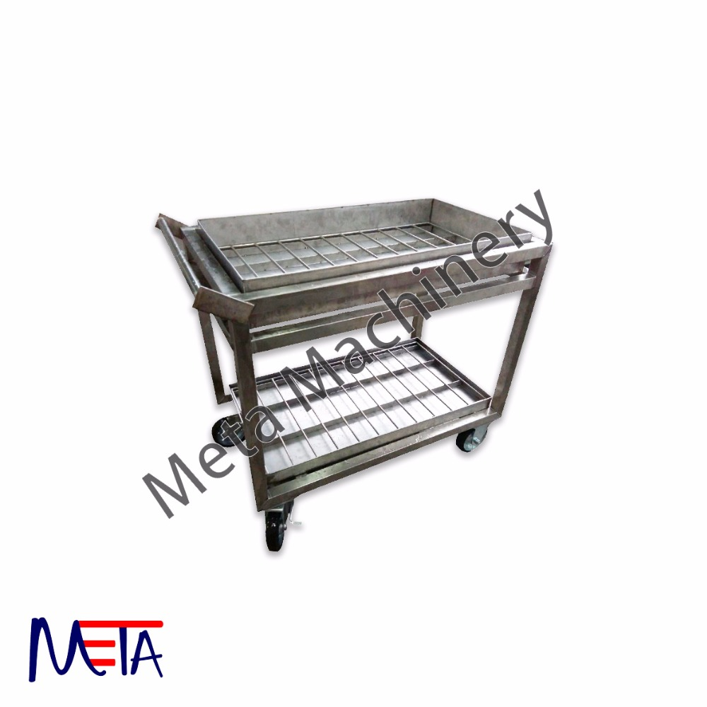 Industry Used Trolley Malaysia Customized size Transfer Trolley, Stainless Steel Industry Trolley