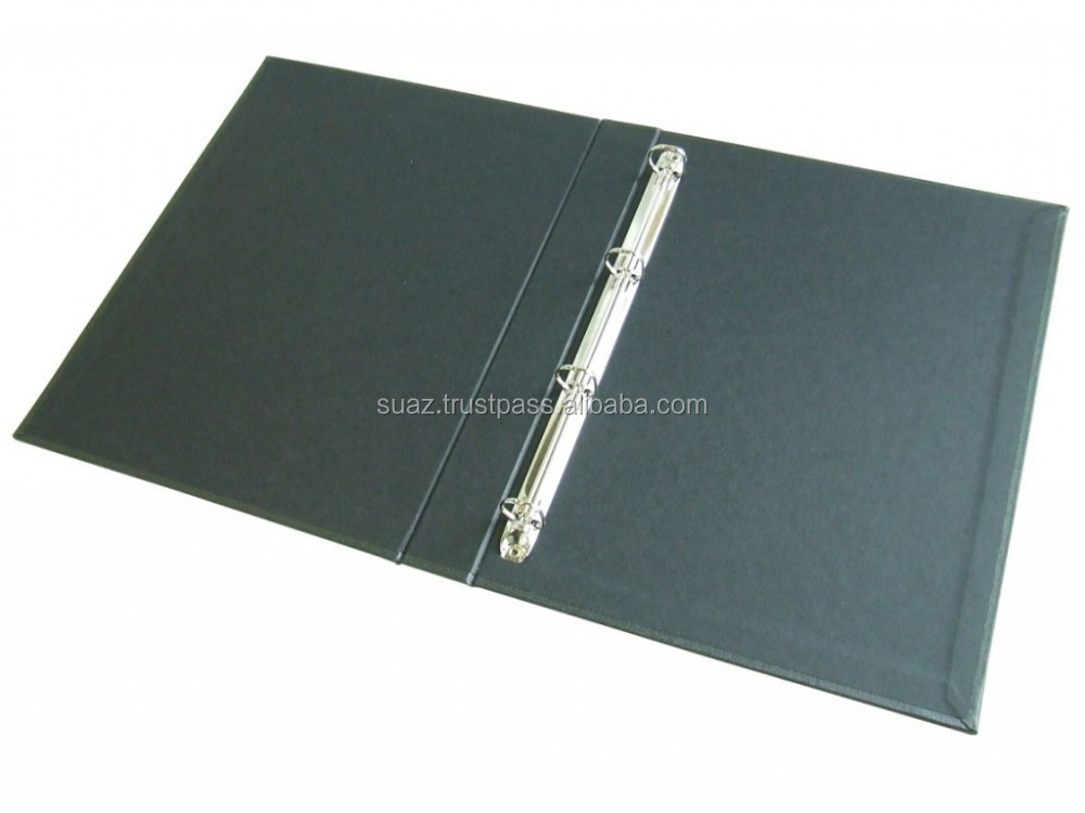 Leather Ring Binder File , Leather Custom Genuine Leather Ring file Cover