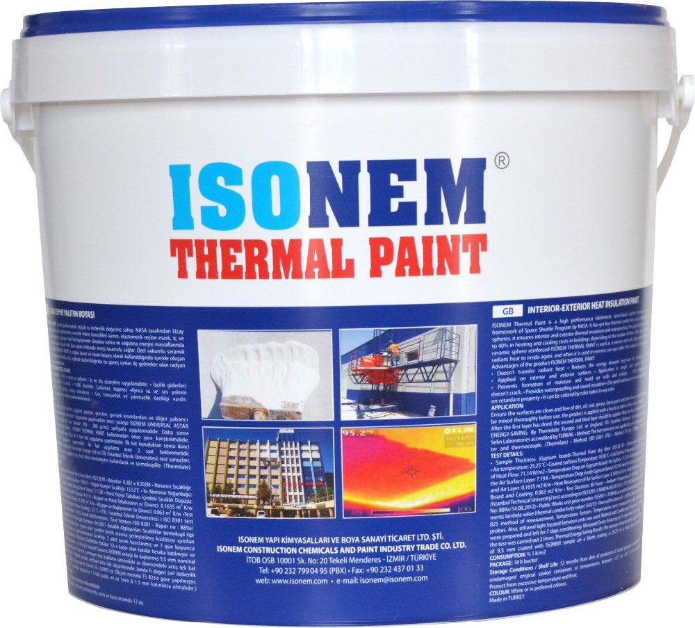 THERMAL INSULATION BUILDING WALL PAINT, SAVES ENERGY AND MONEY