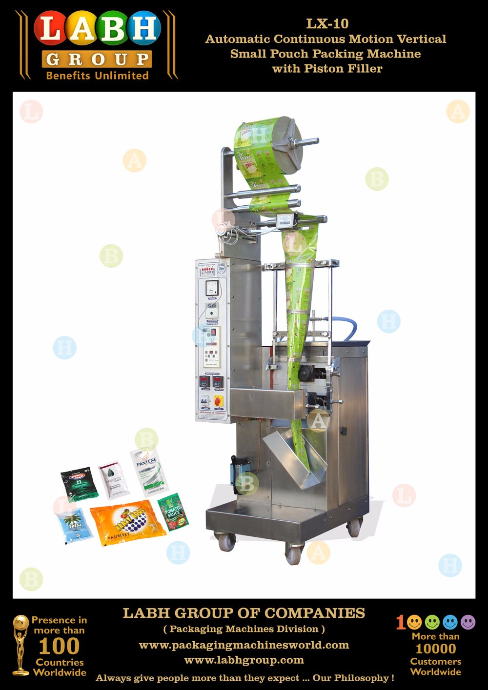Automatic Vertical Pouch Making Machine for Juice PM1728