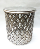 ROUND SIDE STOOL / COFFEE TABLE / CAST ALUMINIUM HAND MADE STOOL TABLE