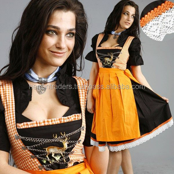 NEW STYLE OF GERMAN BAVARIAN DIRNDL DRESS / OKTOBERFEST BAVARIAN WOMEN DIRNDL / AUSTRIAN DIRNDL DRESS FOR FESTIVAL