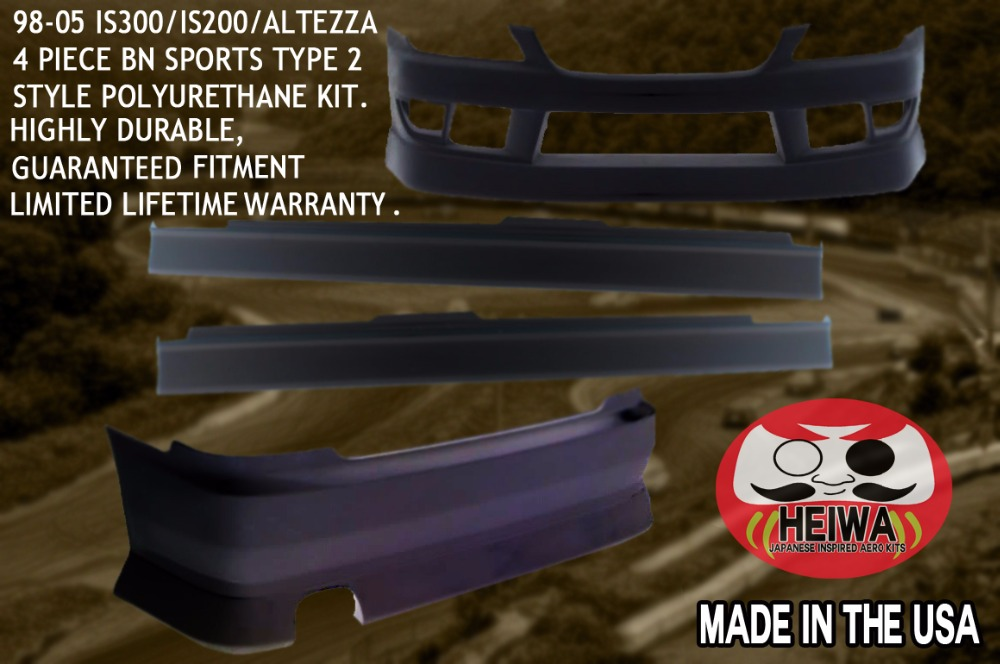 IS300/ALTEZZA BN STYLE POLYURETHANE KIT MADE IN THE USA