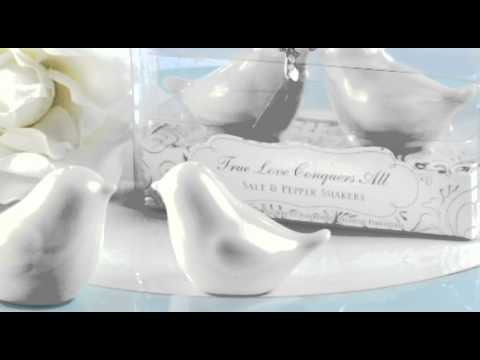 "Disney's Sleeping Beauty ""True Love Conquers All"" Salt & Pepper Shakers Wedding Favors"