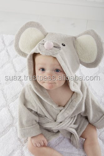Kids children Bath robes , soft embroidery bamboo bathrobe , baby envelope sleeping bag cotton infant wrap baby bathrobe