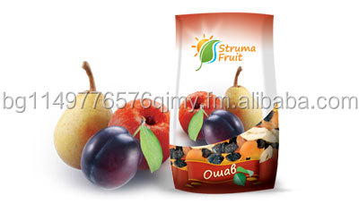 Mix of dried natural fruits - apples , peras and prunes with pits