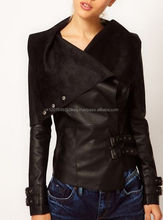 Fancy Latest Women Fashion Sheepskin LeatherJacket