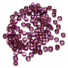 Wholesale Price 3mm Rhodolite 100% Natural Round Shape Loose Cabochon Gemstones
