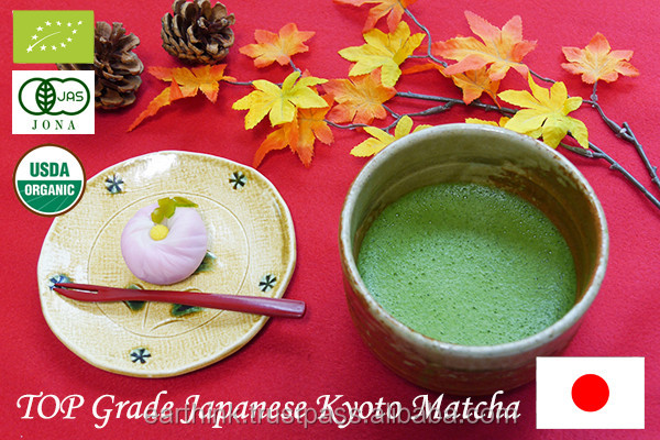 Private Labeling Top and High Grade Organic Kyoto Uji Matcha Green Tea Powder