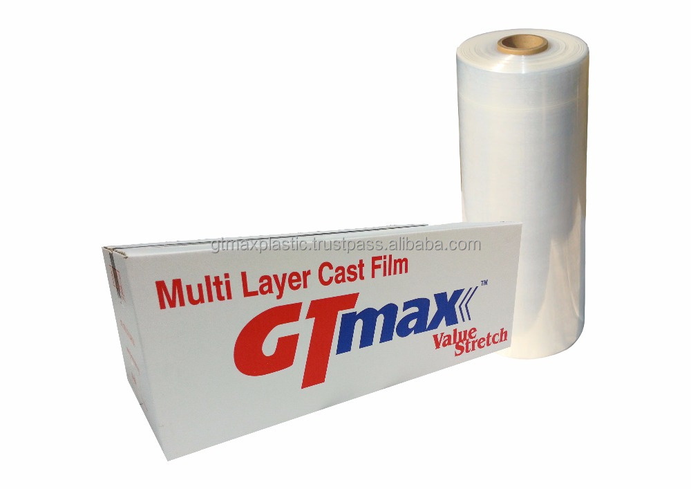 Stretch Films Machine Roll with Pre Stretch 280% 18Micron 18mm