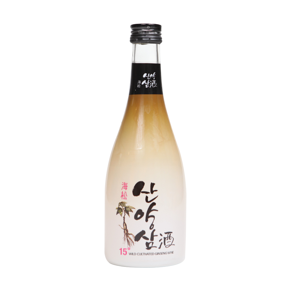 Wild Ginseng Rice Wine 360ml Korea Traditional Food Nutrition Rice Enzyme Malt Delicious Soju!