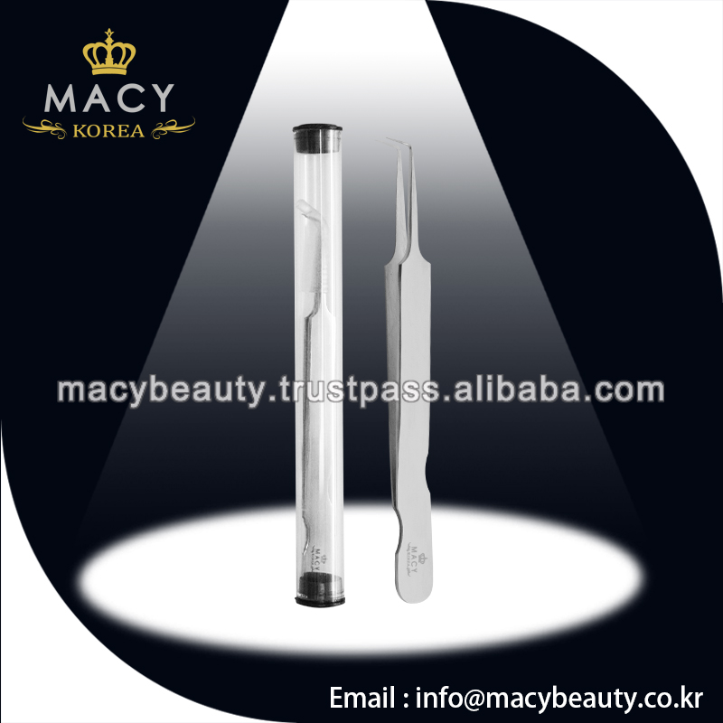 Hot sold tweezers new type for eyelash extension,tweezer angled type