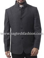 Gray Tweed Wool Blazer