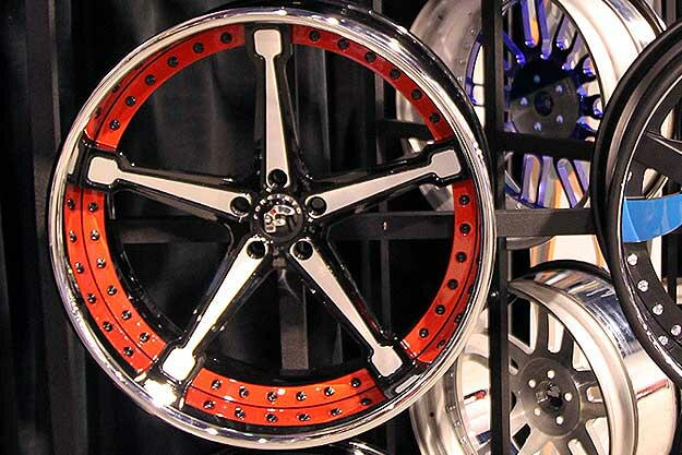 22 Inch 3pc Asanti Wheels Brushed With Clear Center, Chromed Outer Lip