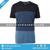 Men's Short Sleeve Blue round neck tshirt high quality OEM Custom 100% cotton top fashion 160 GSM